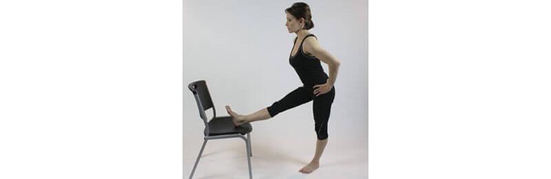 stretching hamstring