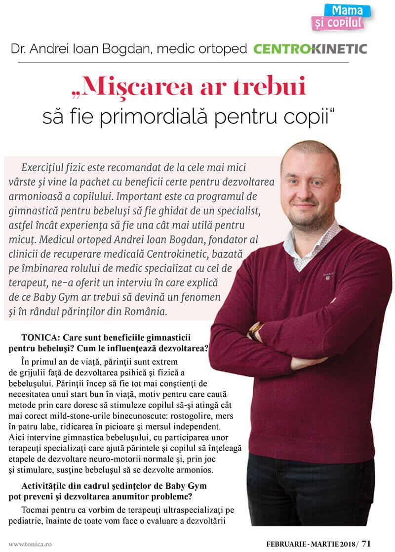 interviu revista tonica dr Andrei Bogdan pag 1