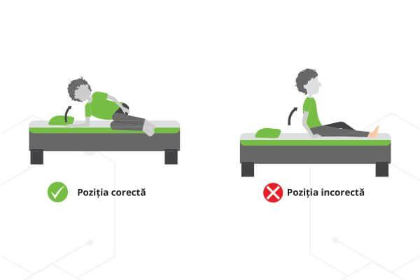 postura corecta ridicare din pat